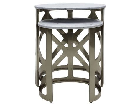 marble and black side tables | marble top table set | Libra